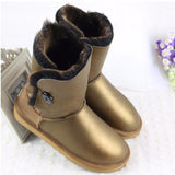 High Quality! genuine Sheepskin Real Fur 100% Wool women winter snow boots, China Brand boots - Hespirides Gifts - 4