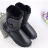 High Quality! genuine Sheepskin Real Fur 100% Wool women winter snow boots, China Brand boots - Hespirides Gifts - 7