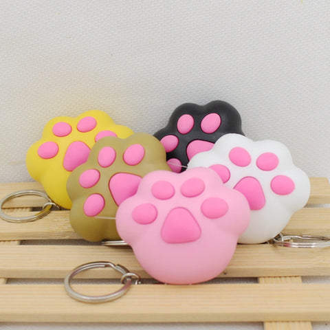 kawaii cat's paw led keychain with Meow meow sound, Flashlight keychains,cute keyrings,the cat's toys3# - Hespirides Gifts