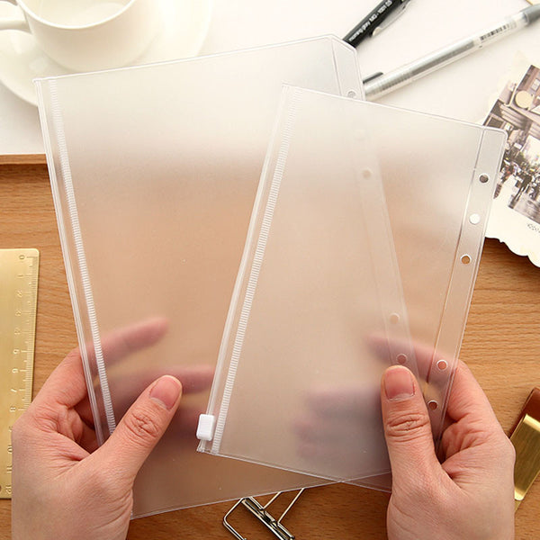 Transparent PVC Storage Bag for Traveler's Notebook Diary Day Planner Zipper Bag Business Cards, Notes Pouch Planner Accessories - Hespirides Gifts