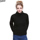 Women 5 Colors Brief Long Sleeve Turtleneck Cable Knitted Sweater Casual Pullover Autumn New Vintage Ribbed Slim Knitwear - Hespirides Gifts - 2