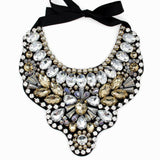 Women Handmade Exaggerate Crystal Big Necklace Hi-Q Gems Bead Bib Collar Fashion Statement Necklaces Maxi Jewelry Bijoux femme - Hespirides Gifts - 2