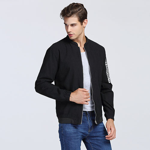 New Fashion Brand Jacket Men Clothes Baseball Collar Slim Fit Trend Letter Print Casual Mens Jackets And Coats 5XL Mens Clothing - Hespirides Gifts - 3