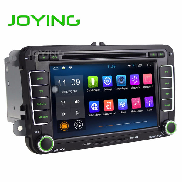 JOYING Android Car Multimedia Player For VW 7 inch Double 2 Din Car Radio GPS Navigation DVD Player Car Audio Stereo Auto - Hespirides Gifts