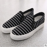 Plus Size 35~44 Women man's Loafers Shoes Women Shoe New Striped Canvas shoes, Flat Heel Loafers Shoes DS-05 - Hespirides Gifts - 3