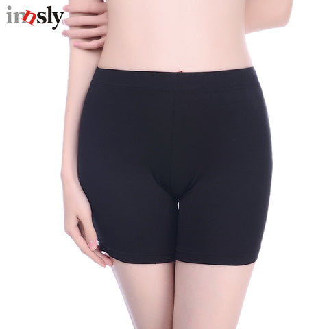 Innsly Safety Short Pants Under Skirts For Women Boyshorts Panties Seamless Big Size Ladies Safety Boxer Panties Underwear Black
