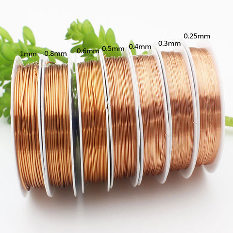 Copper Wire To Bead Diy Bracelet Earring Making Cords Beading Wire,Jewelry Findings Brass Rope1pcs/lot