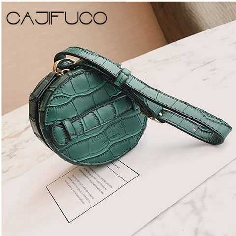 CAJIFUCO Lady Coin Purse Strap Clutch PU Leather Crocodiles Style Child Vintage Handbag Purse