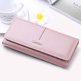 SENDEFN Fashion Genuine Leather Wallet Women Long Slim Lady Casual Day Clutch Card Holder Phone Pocket Wallet Female Purse - Hespirides Gifts - 3