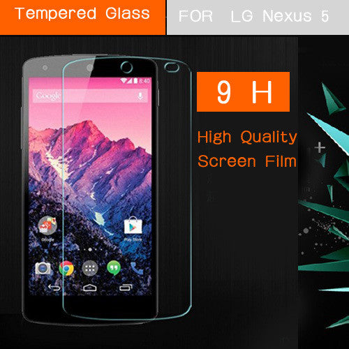 For LG Nexus5 Premium Tempered Glass Screen Protector Film for LG Google Nexus 5 E980 D820 D821 Front Screen Protective Guard - Hespirides Gifts