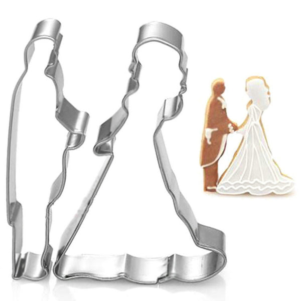 Cookie Cutter metal ,Wedding sets cookie cuttter, Biscuit mold, styling tools Bride and groom 2pcs/lot