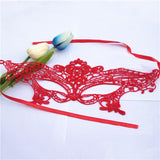New Red/Pink Sexy Elegant Eye Face Mask Masquerade Ball Carnival Fancy Party dress up mask for Girl Halloween&Christmas supply - Hespirides Gifts - 2