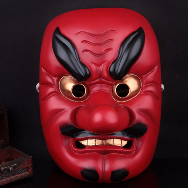 Resin Japanese Buddhist Traditional Warrior Hannya Mask Cosplay Scary Mask Adult Fancy Costume Masquerade Party Halloween Props - Hespirides Gifts