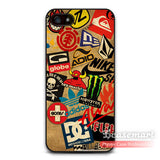 Skateboard Logos Cover Case For iPhone 6 6 Plus 5 5s 5c 4 4s iPod 5 Ultra Phone Cases Wholesale Drop Retail - Hespirides Gifts - 1
