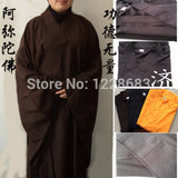 Shaolin Buddhist Monk Robes Suits Kung Fu Uniforms Martial Arts Gown Unisex Buddhist Clothing - Hespirides Gifts - 1