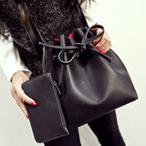 Fashion candy color fashion all-match bucket bag pu leather one shoulder cross-body women's handbags - Hespirides Gifts - 1