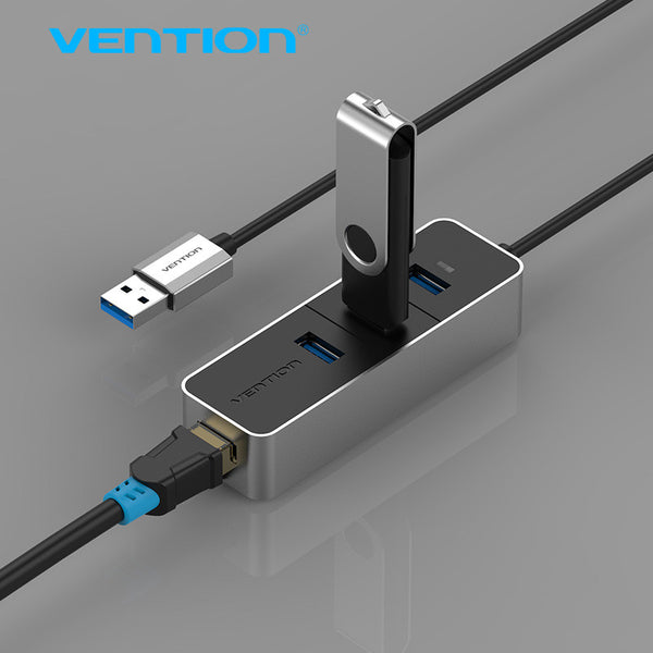 Vention USB 3.0 Hubs 10/100 Mbps Lan Network Ethernet Adapter Card + 3 Port USB Hub For Mac OS Tablet pc Laptop Smart TV - Hespirides Gifts