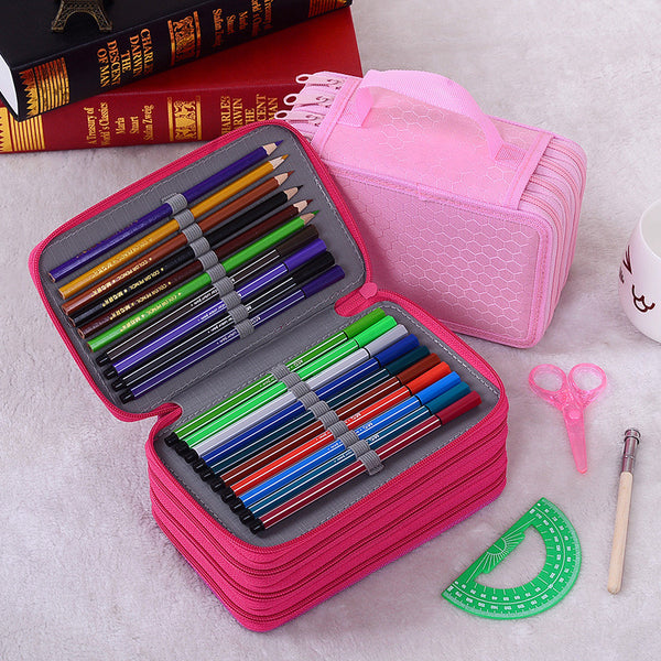 pencil case trousse scolaire stylo etui box cartucheras para lapices escolares 52/72 holes kalem kutu bags school kalem kutu