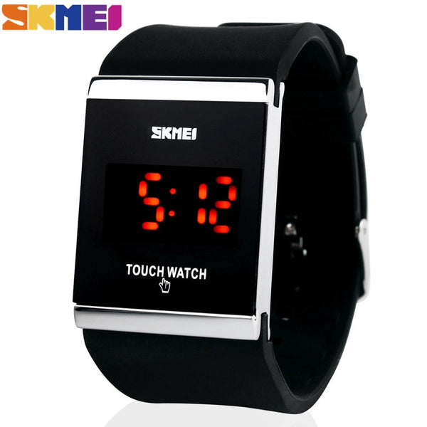 New Hot Fashion Sport Led Watch Men Candy Color Silicone Rubber Touch Screen Digital Watches, Clock Women Bracelet Wristwatch - Hespirides Gifts - 4