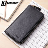 BOSTANTEN Business Men Wallets New Solid PU Leather Long Wallet Zipper Portable Cash Purses Casual Wallets Male Clutch Bag - Hespirides Gifts - 1
