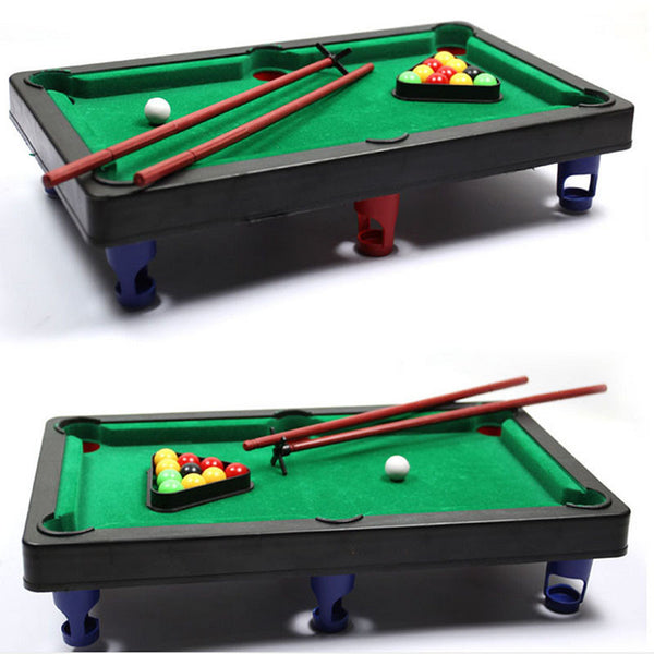MINI POOL TABLE Flocking desktop simulation billiards Novelty Mini billiards table sets children's play sports balls Sports Toys - Hespirides Gifts
