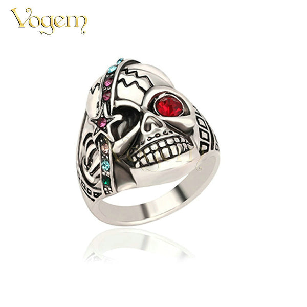 VOGEM Halloween Carnival Vintage Unisex Rings Domineering Punk Skeleton Shape AAA+ Resin Large Size Rings World of Warcraft - Hespirides Gifts - 2