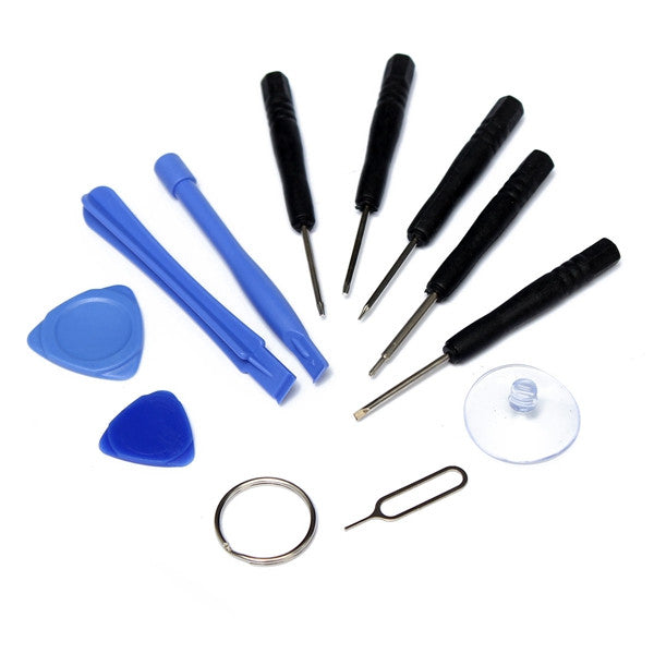 Hot Style 11 in 1 Mobile Phone Opening Pry Repair Tool Kit Screwdriver Set for iPhone 6 6 Plus 5 4 S C for Samsung all Cellphone