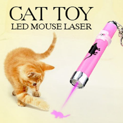 Creative and Funny Pet Cat Toys LED Laser Pointer light Pen With Bright Animation Mouse Random Color - Hespirides Gifts