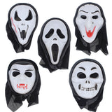 Halloween Mask Grimace Plastic Full Face Horrible Makeup Cosplay Costume Party Decoration Halloween Mask Supplies - Hespirides Gifts - 1