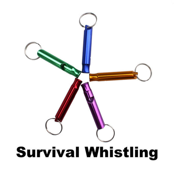 Outdoor Metal Multifunction Whistle Pendant With Keychain Keyring For Outdoor Survival Emergency - Hespirides Gifts