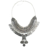 Collar Coin Necklace & Pendant Vintage Crystal Maxi Choker Statement Silver Collier female Boho Big Fashion Women Jewellery - Hespirides Gifts - 6