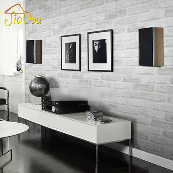 Deep Embossed 3D Brick Wall Paper Modern Vintage Brick Stone Pattern Paper Wallpaper Roll For living room Wall covering Decor - Hespirides Gifts