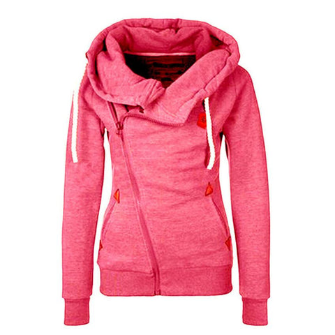 Solid Women Hoodies Sweatshirts Spring Autumn Hoodies Women Zipper Design Thicken Hoody Women Hoody Sweatshirt S-XL Size - Hespirides Gifts - 1