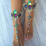 Vedawas New Hot Sale Fashion Anklets Statement Jewelry Multicolor Crystal Rhinestone Beads Boho Anklet Bracelets Women 2104 - Hespirides Gifts - 1