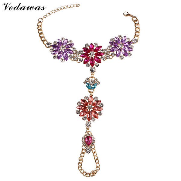 Vedawas New Hot Sale Fashion Anklets Statement Jewelry Multicolor Crystal Rhinestone Beads Boho Anklet Bracelets Women 2104 - Hespirides Gifts - 8