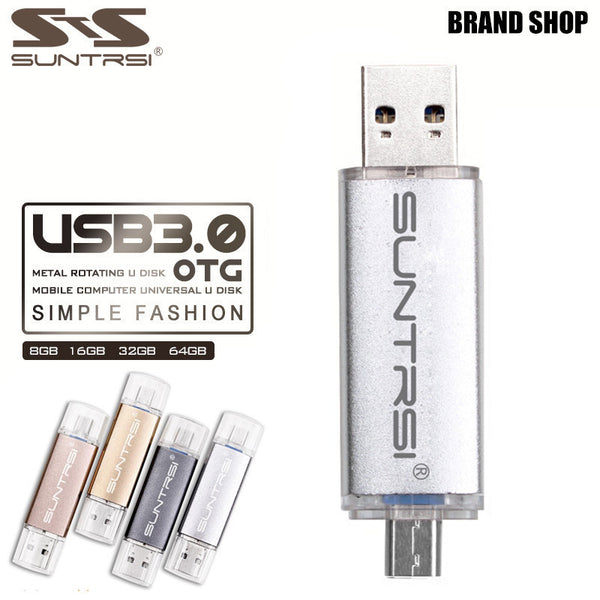 Suntrsi OTG Pen Drive USB 3.0 Flash Drive 64GB 32GB 16GB 8GB USB Flash Drive Customized Logo Pendrive USB Stick - Hespirides Gifts