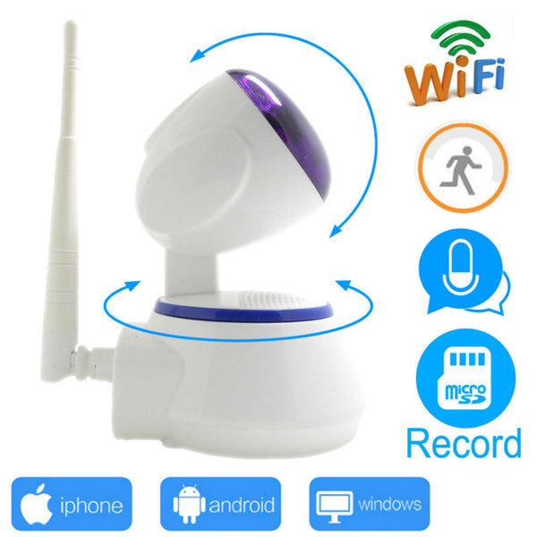 ip camera wi-wifi 720p cctv security mini system wifi home wireless micro sd card ipcam infrared surveillance ptz cam HD JIENU - Hespirides Gifts