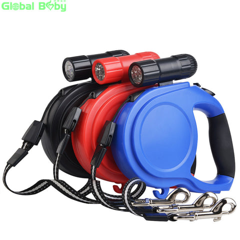 Brand New ABS Material 8 Meter Length Retractable Leashes Leads for Big Dog and Pet with Led Flashlight Safe Travel at Night.