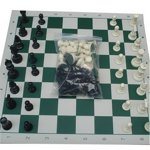 Lot of 32 Medieval Chess Pieces/Plastic Weighted Full Complete Chess Set With Friend Play Chess for Relax VB491 T15 0.5 - Hespirides Gifts