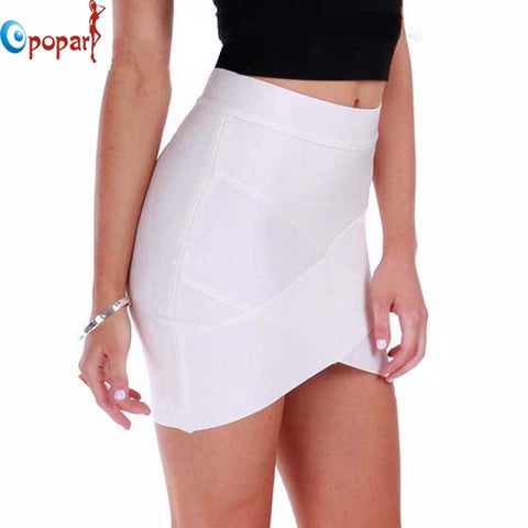 Women Hot Short Elastic Rayon Bandage Skirt Mini Sexy Slim Tight Pencil Night Club Party Candy 10 Colors Drop HL135-2 - Hespirides Gifts - 1