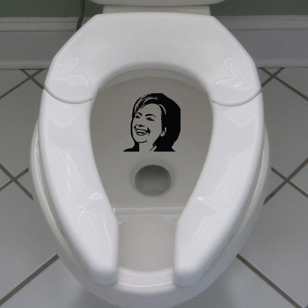 Literally Piss On Hillary Clinton Toilet Sticker Decal Election Vote USA Sticker Hillary Sticker for Toilet Switch A-135 - Hespirides Gifts