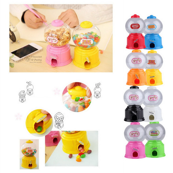 Cute Sweets Mini Candy Machine Bubble Gumball Dispenser Coin Bank Kids Toy Worldwide sale Money Saving Box Baby Gift Toys - Hespirides Gifts