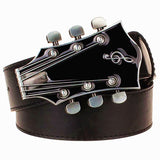 Fashion Men's belt metal buckle belts Retro guitar  Street Dance accessories Performance apparel hip hop  waistband novel belt