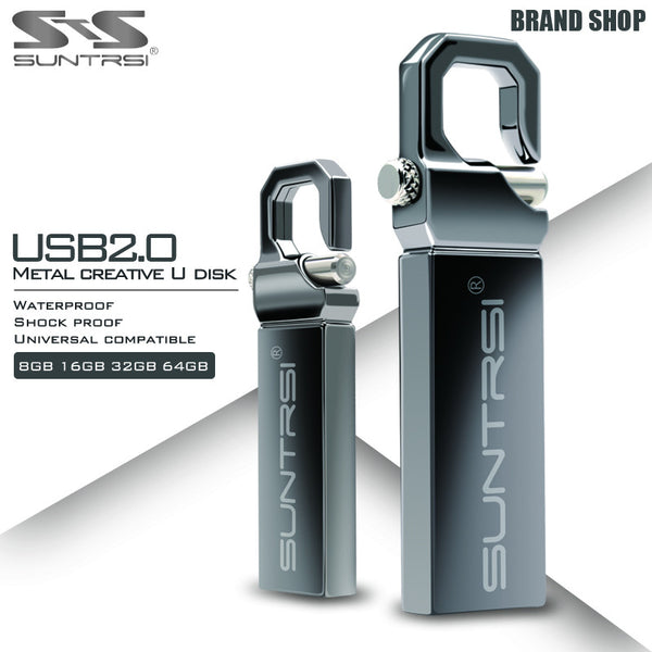 Suntrsi USB Flash Drive 64GB Metal Pendrive High Speed USB Stick 32GB Pen Drive Real Capacity 16GB USB Flash Free Shipping - Hespirides Gifts