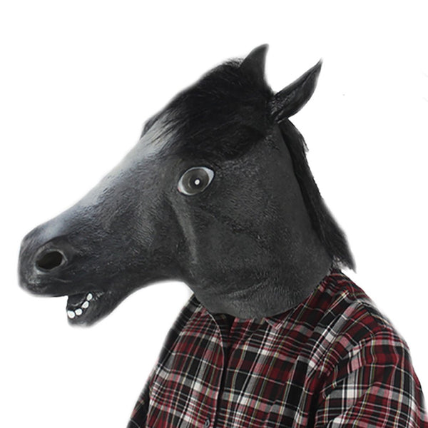 Latex Horse Head Mask for Halloween Masquerade Parties Costume Ball - Hespirides Gifts