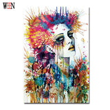 Magic Girl Decorative Pictures Abstract Siren Women Wall Art Painting 1Pc Unframed Cuadros Decoracion Infantiles Christmas Gift - Hespirides Gifts - 2