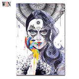 Magic Girl Decorative Pictures Abstract Siren Women Wall Art Painting 1Pc Unframed Cuadros Decoracion Infantiles Christmas Gift - Hespirides Gifts - 3