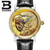 Halloween Watches Eagle Pattern Switzerland Luxury Brand Watch Automatic Mechanical Men Watches Rose Gold Dial Hand-Carved - Hespirides Gifts - 2