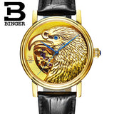 Halloween Watches Eagle Pattern Switzerland Luxury Brand Watch Automatic Mechanical Men Watches Rose Gold Dial Hand-Carved - Hespirides Gifts - 3