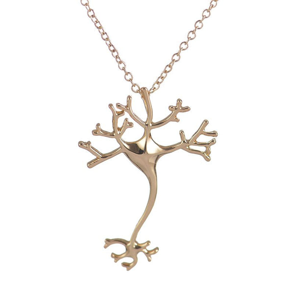 New FashionScience Hippie Chic Neuron Brain Nerve Cell Necklace Colar Boho Neuron Fashion Necklaces for Women N197 - Hespirides Gifts - 2